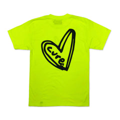Heart Tee - Neon Yellow