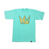 Seafoam Tee w/ Gold Crown