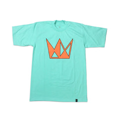 Seafoam Tee w/ Neon Orange Crown