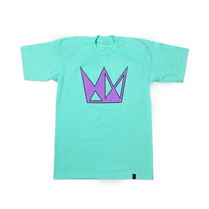 Seafoam Tee w/ Purple Crown