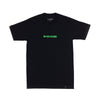 W+CC=CURE Raised Ink Tee - Black/Neon Green