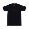 W+CC=CURE Raised Ink Tee - Black/Neon Orange