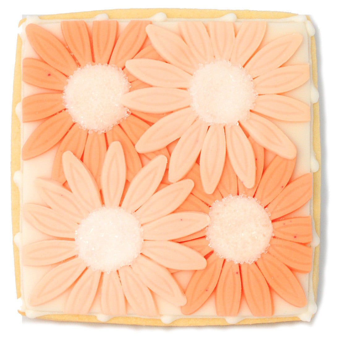 Wedding Cookie - Orange Flowers