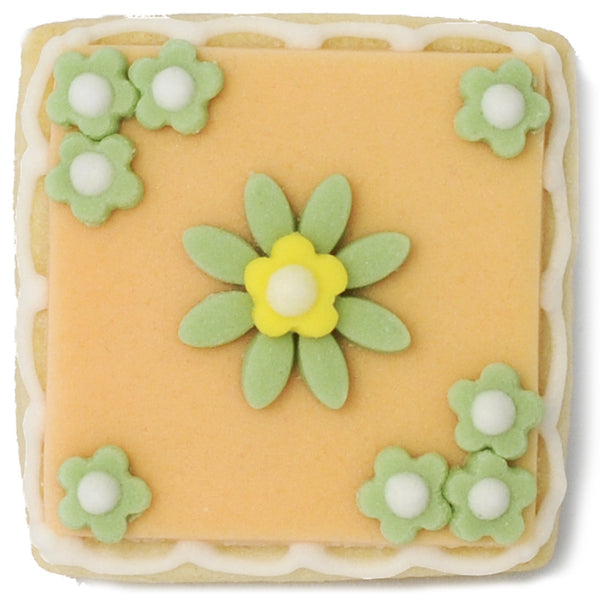 Mini Cookie - Green Flowers