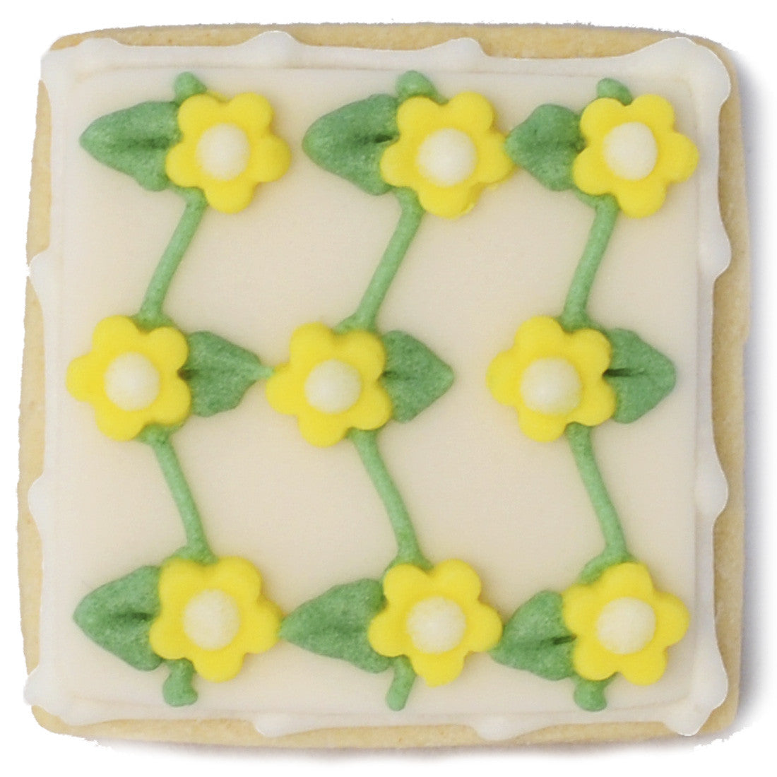 Mini Cookie - Yellow Connected Flowers