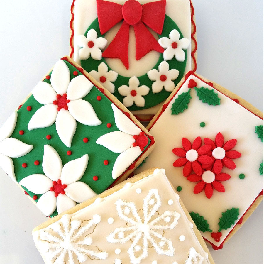 gourmet decorated Christmas cookies