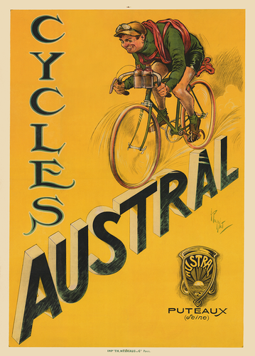 Cycles Austral Poster - MOLTENI CYCLING