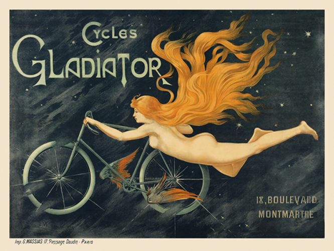 Cycles Gladiator Vintage Poster - MOLTENI CYCLING