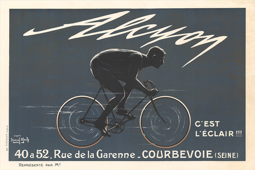 Alcyon Grey Poster - MOLTENI CYCLING