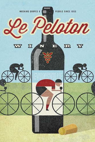 Le Peloton Winery Print - MOLTENI CYCLING