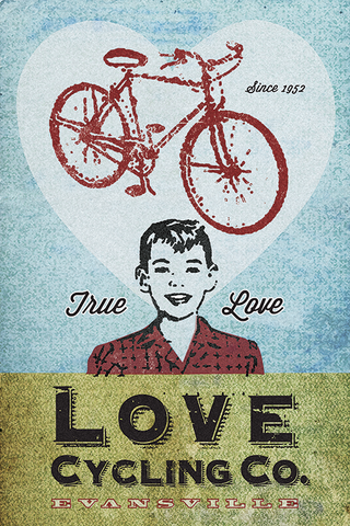 Love Cycling Company Print