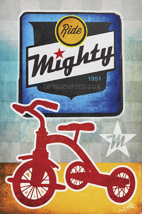 Mighty Bicycles Print - MOLTENI CYCLING