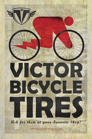 Victor Bicycle Tires Print