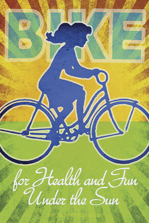 Bike for Health and Fun Print - MOLTENI CYCLING