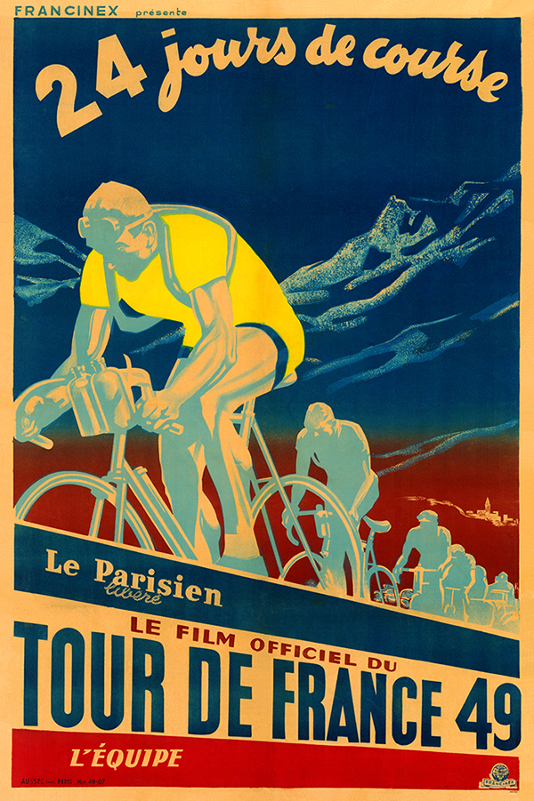 1949 Tour de France Poster - MOLTENI CYCLING