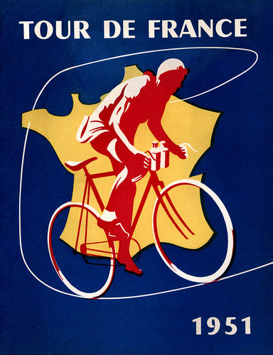 1951 Tour de France Poster - MOLTENI CYCLING