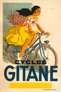 Cycles Gitane Poster - MOLTENI CYCLING
