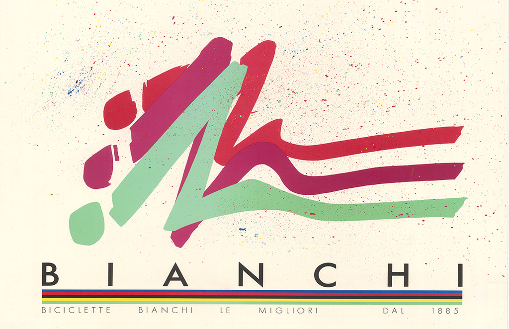 Bianchi Vintage Bicycle Poster - MOLTENI CYCLING