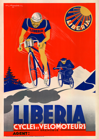 Liberia Bicycle Poster
