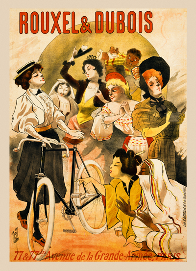 Rouxel & Dubois Ladies Poster - MOLTENI CYCLING