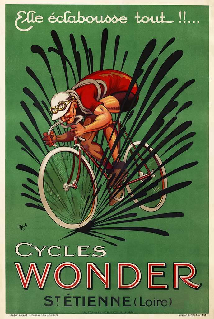 Cycles Wonder Mich Poster - MOLTENI CYCLING