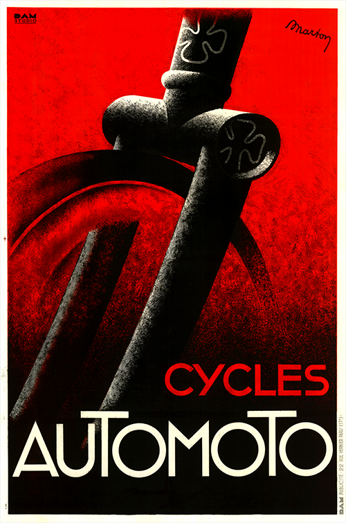 Cycles Automoto Poster. - MOLTENI CYCLING