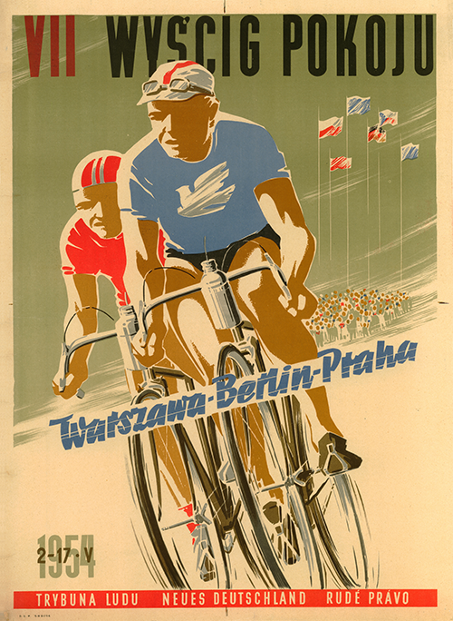 Peace Race 1954 Bicycle Poster - MOLTENI CYCLING