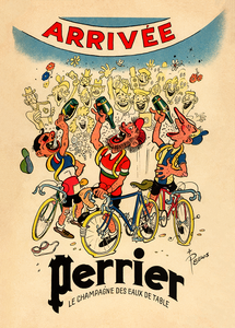 Perrier Bicycle Poster - MOLTENI CYCLING
