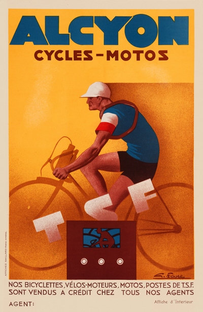 Alcyon Cycles-Motos Poster - MOLTENI CYCLING