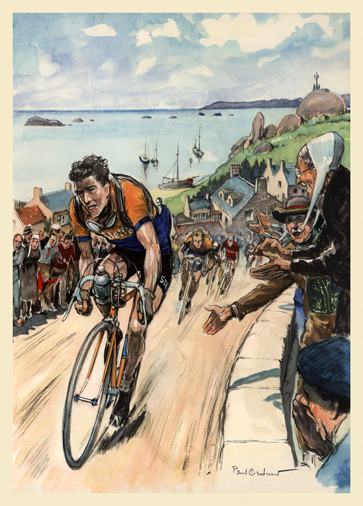 Bobet 1953 Tour de France Poster - MOLTENI CYCLING