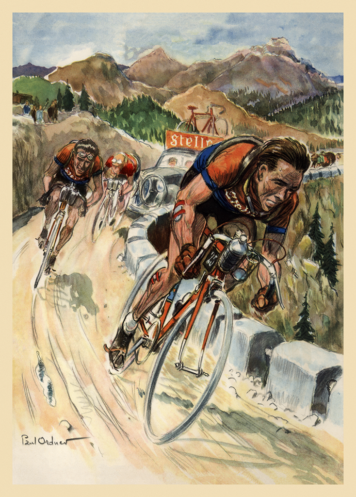 1953 Tour de France Poster - MOLTENI CYCLING