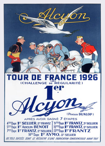 Alcyon Tour de France 1926 Poster