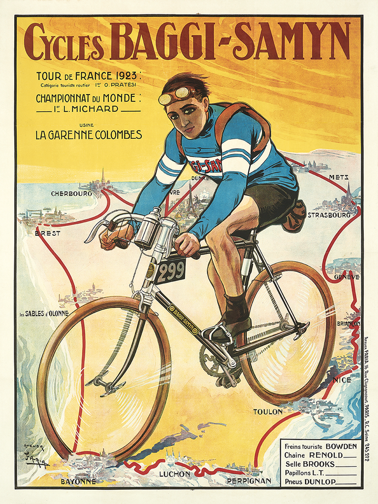 Baggy-Samyn Tour De France 1923 Poster - MOLTENI CYCLING