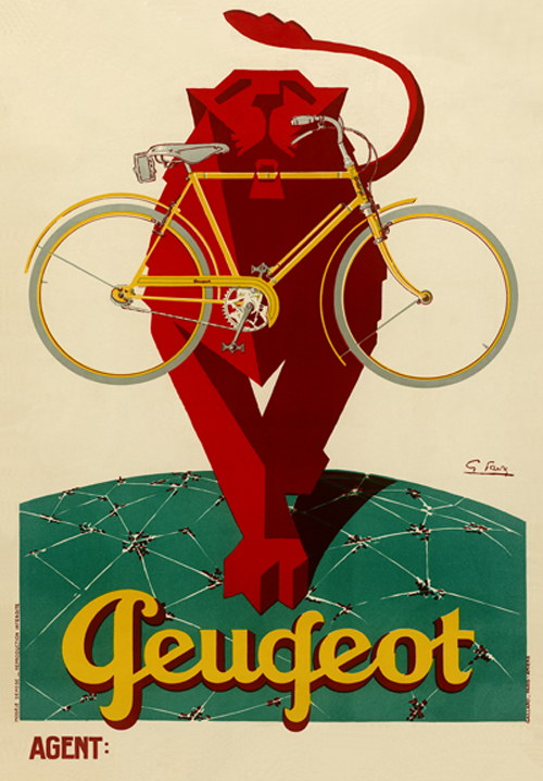 Peugeot Lion Poster - MOLTENI CYCLING