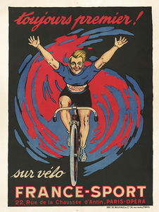 France Sport Poster - MOLTENI CYCLING
