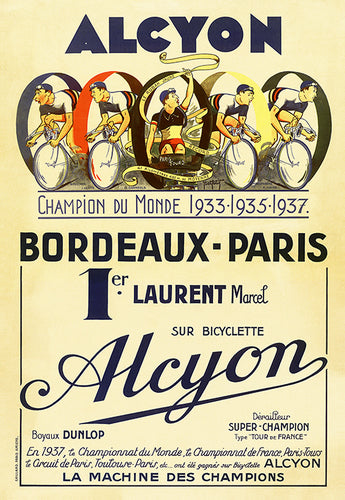 Alcyon  Bordeaux-Paris Poster - MOLTENI CYCLING