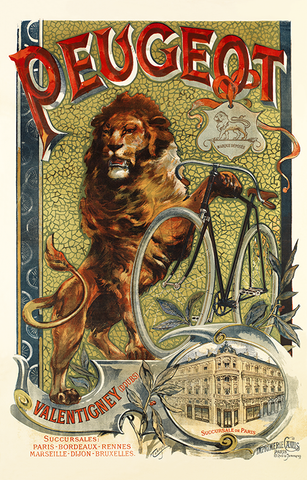 1899 Peugeot Poster