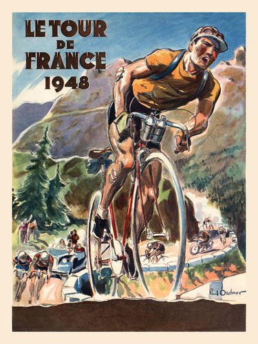 Le Tour de France 1948 Poster - MOLTENI CYCLING