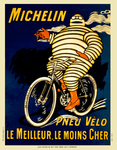 Michelin French Bicycle Poster - MOLTENI CYCLING