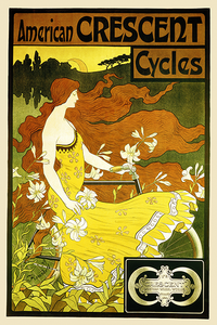 American Crescent Cycles Poster - MOLTENI CYCLING