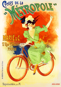 Cycles de La Metropole Poster - MOLTENI CYCLING