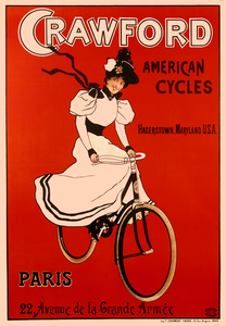 Crowford American Cycles Poster - MOLTENI CYCLING