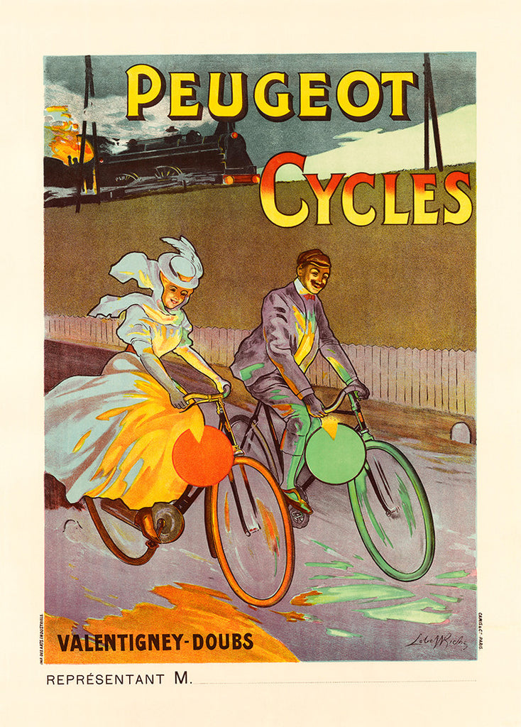 1900 Peugeot Cycles Poster - MOLTENI CYCLING