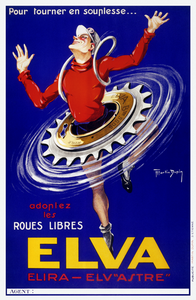 Elva French Bicycle Poster