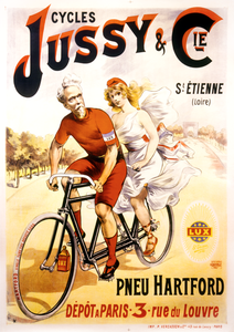Cycles Jussy & Cie Tandem Poster - MOLTENI CYCLING