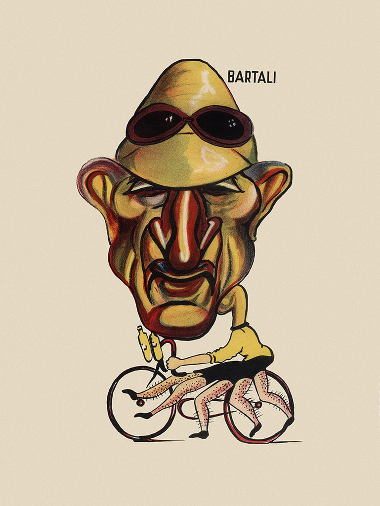 GIRO D'ITALIA Gino Bartali Bicycle Poster - MOLTENI CYCLING