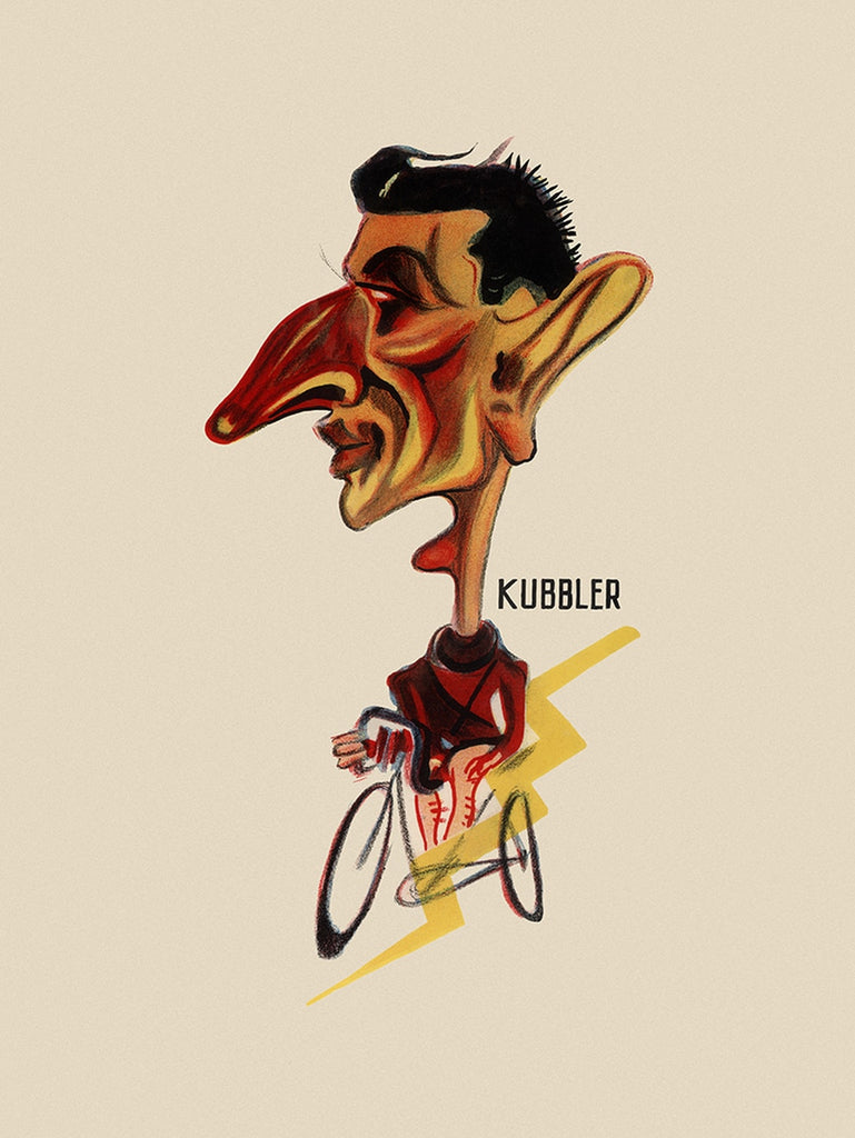 GIRO D'ITALIA Ferdi Kübler Bicycle Poster - MOLTENI CYCLING