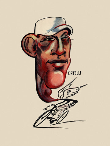 GIRO D'ITALIA Vito Ortelli Bicycle Poster