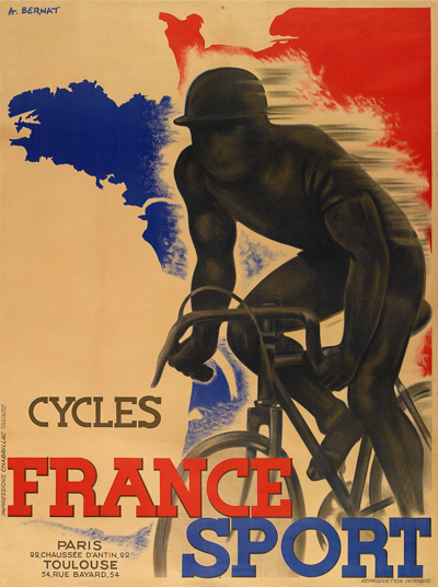 Cycles France Sport Poster - MOLTENI CYCLING