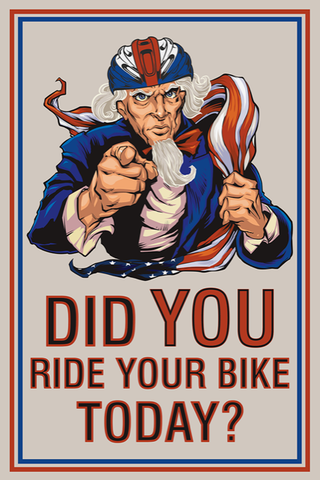 Did you ride your bike today? Print